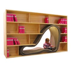 BK Library Interiors - THE CAVE BOOKCASE