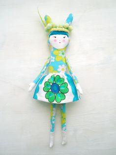modflowers doll: rabbit ear girl