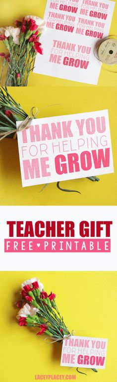 Teacher Gift Thank You Printable - Lacey Placey