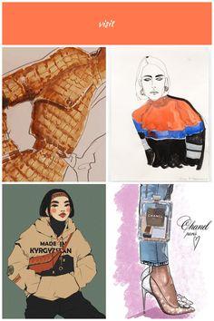 Fashion Art: How to hand render a crocodile pattern fashion illustration