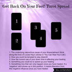 The get back on your feet tarot spread
