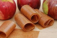 4 cups of peeled chopped apples cup water tablespoons granulated sugar to taste 1 teaspoon cinnamon Homemade Apple Cinnamon Fruit Leather -- Real Mom Nutrition Homemade Fruit Leather, Fruit Leather Recipe, Dehydrated Apples, Dehydrated Meals, Recipe Using Apples, Fruit Strips, Roll Ups Recipes, Fruit Roll Ups, Apple Fruit