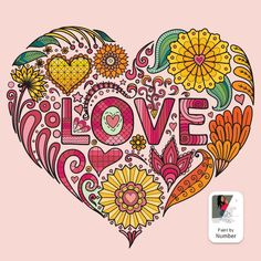 Adult Coloring, Coloring Books, Coloring Pages, True Love Images, Beach Signs, Love Painting, Happy Colors, Paint By Number, Valentines Day