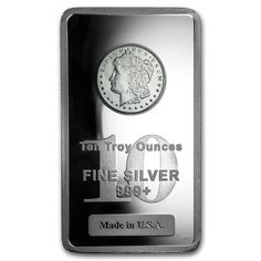 Order 10 oz Silver Bar - Morgan Design at APMEX or call We offer competitive Silver prices on 10 oz (Silver Bars) and secure online ordering. Gold And Silver Coins, Silver Bars, Incredible Gifts, Silver Bullion, Silver Eagles, Silver Prices, Coin Jewelry, Gold Price, Precious Metals