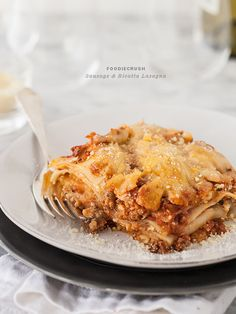 Sausage and Ricotta Lasagna. My absolute fav meal of all times. Lasagna. Comfort food that is even better the next day!