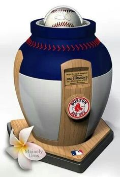 It's official.... When I die, I'm going to be in this Boston Red Sox urn.... Red Sox fan for life, and AFTER