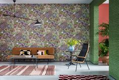 Cole and Son Singita Wallpaper | 2018 Designer Wallpapers | TM Interiors Singita 109-7034 Wallpaper. Singita, which means 'Place of Miracles' is truly just that! This rich and fabulously patterned forest design has been painstakingly and charmingly hand painted using the decorative plant motifs and foliage which adorn the painted dishes and bowls created by Ardmore artists over the years. Singita 109-7034 #Wallpaper by #ColeandSon