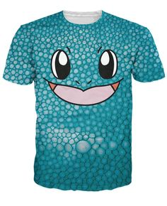 72eaf0438 New Arrive Squirtle Face Unique Double-Sided T-Shirt Pokemon water type  starter Character tees tops For Women Men