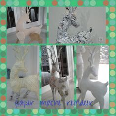 Paper mache reindeer. My creation for the last Christmas decoration. Took me 2 weeks from scratch #lusicreations