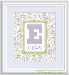 Custom Personalized Name Print 8x10 Flowers Children by TypeArtist, $12.00