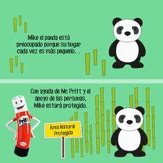 Los pandas son una de las especies que se encuentran en peligro de extinción. ¡Ayudemos a Mr. Pritt a compartir la historia! #CreaConPritt #Cuento #Pritt #Panda #Osos #Animales