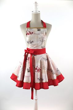 LUXURY+APRON+CHIC&Lovely+VINTAGE+ROOSTER+from+CHIC&Lovely+by+DaWanda.com