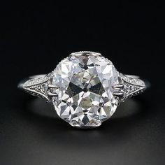 Antique Cushion Cut Diamond Ring