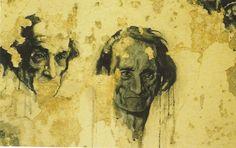 Ernest Pignon Ernest, Antonin Artaud hopital d'Ivry 1997
