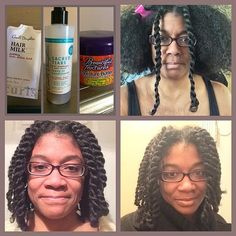 Carol's Daughter Leave-In all over. Mole side- twists Carol's Daughter / Mole free side- Beautiful Textures. Finished with Argan oil through hair.   #shrinkage #meanmuggin #hairstory #texture #nappy #curly #coily #curls #fro #wavy #natural #naturals #kinks #coils #spirals  #hairtype #gotfrizz #mane #hair  #knots #kinky #naturalhair