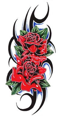 Tribal Rose Tattoos For Men 3d Rose Tattoo, Tribal Flower Tattoos, Tribal Wolf Tattoo, Rose Tattoos For Men, Beautiful Flower Tattoos, Black Rose Tattoos, Tribal Tattoo Designs, Flower Tattoo Designs, Tattoos For Guys