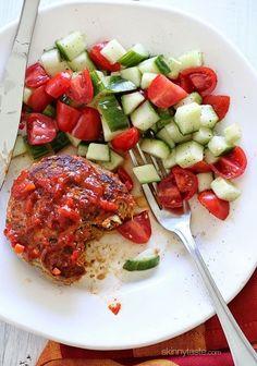 Skillet Harissa Turkey Meatloaf Skinny Recipes, Ww Recipes, Turkey Recipes, Healthy Recipes, Skinnytaste Recipes, Dinner Recipes, Healthy Options, Healthy Meatloaf, Baked Pesto Chicken