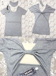 Creating Laura: No-Sew DIY Bow-Back Tank Top -- great DIY for a tween or teen!: