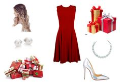 """Christmas Eve"" by michelle-981 ❤ liked on Polyvore featuring Dolce&Gabbana, Christian Louboutin, Mikimoto, women's clothing, women's fashion, women, female, woman, misses and juniors"