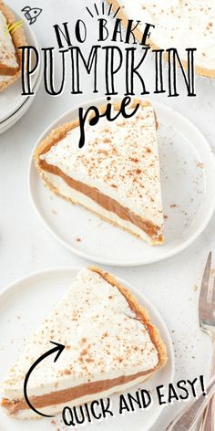 This No Bake Pumpkin Pie is a great twist on the classic pumpkin pie. It features a graham cracker crust filled with perfect layers of cream cheese, pumpkin and Cool Whip. Plus, since it's no bake, it's quick and easy to make. No Bake Pumpkin Pie, Pumpkin Pie Recipes, Pumpkin Dessert, Fall Recipes, Holiday Recipes, Pumpkin Bars, Pumpkin Bread, Pumpkin Cheesecake, Cheesecake Recipes