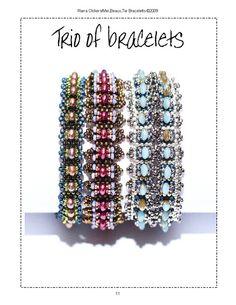 Trio Of Bracelet  Patterns von RianaOlckersBeadWork auf Etsy