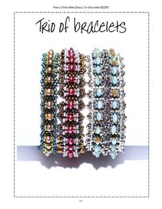 Bead weaving bracelet patterns.Trio Of by RianaOlckersBeadWork