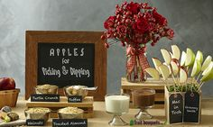 Apple Dipping Bar from Instructables - View more Rosh Hashanah Ideas on mazelmoments.com