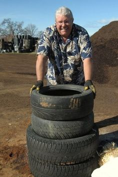 Get mileage from old tires: Use them to grow potatoes. Redding horticulturist Gordon Elliott would like to roll out a simple strategy for growing potatoes — tires.
