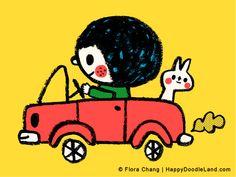 Fun Ride  12 x 16 Print by HappyDoodleLand on Etsy, $38.00