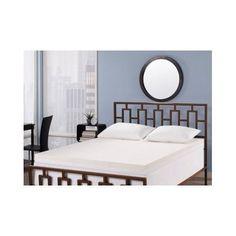 Memory-Foam-Mattress-4-In-Topper-Twin-Sz-Bed-Reduces-Back-Pain-Bedroom-Furniture