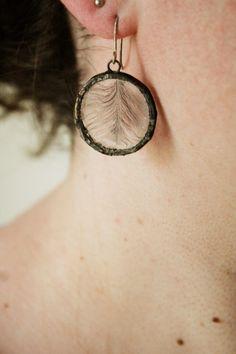 Clapper Rail Earrings, silver earrings, marsh hen, feathers by bowersfield on Etsy https://www.etsy.com/listing/281237266/clapper-rail-earrings-silver-earrings
