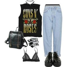 #grunge #softgrunge #rock #punk #alternative #style -A