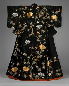Outer Robe (Uchikake) with Mandarin Oranges and Folded-Paper Butterflies | Japan | Edo period (1615–1868) | The Metropolitan Museum of Art