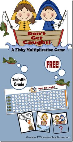FREE Multiplication game from 123 Homeschool 4 Me, is a fun way for kids in 2nd-4th grade to practice and review key multiplication
