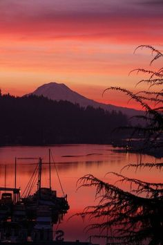 Gig Harbor, WA w/ Mt. Rainier in the background...lovely