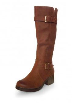Block Heel Buckle Strap Boot, also in Black! Only at www.revuk.com