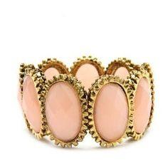 Gold and peach cuff