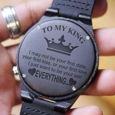 Engraved Wooden Watch – Great Gift For Your Husband! Engraved Wooden Watch – Great Gift For Your Husband! Perfect Gift For Boyfriend, Gifts For Hubby, Gifts For Your Boyfriend, Gifts For Him, Dear Boyfriend, Boyfriend Watch, Niece Quotes, Daughter Love Quotes, Love Husband Quotes