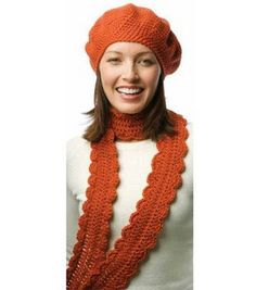 "Free pattern for ""One-Skein Crochet Beret & Scarf""!"