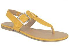 Style&co. Women's Rachael Flat Thong Sandals Golden Glow Yellow Size 6.5 M #Styleco #FlatThongSandals #CasualSummerTime