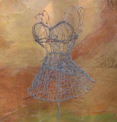 wire+dress+sculpture | wire dress