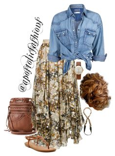 A fashion look from July 2017 featuring silk shirt, high waisted skirts and gucci sandals. Browse and shop related looks. Curvy Fashion Summer, 60 Fashion, Curvy Women Fashion, Fashion Moda, Modest Fashion, Plus Size Fashion, Womens Fashion, Modest Casual Outfits, Chic Outfits