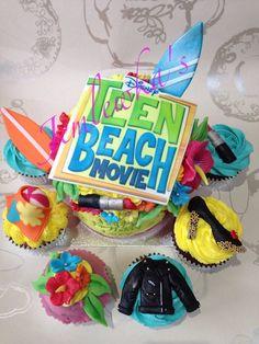 Teen beach movie cupcakes - by Jemlewkascupcakes1 @ CakesDecor.com - cake decorating website