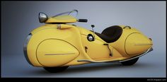Yellow Streamline motorcycle                                                                                                                                                      More