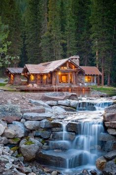 Cabin in the woods. Beautiful