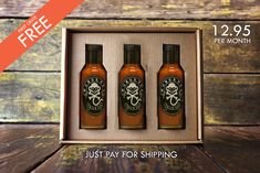 Free hot sauce box, just pay for shipping