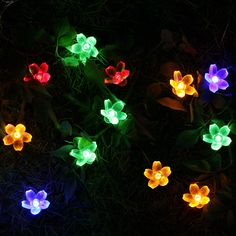 amazon com 13ft 20 leds multi colored solar led string lights with
