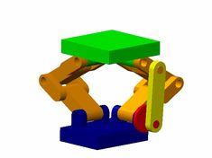 Sarrus mechanism - 3D CAD model - GrabCAD