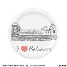 I Love Belarus Mir Castle Architecture Мирский Paper Plate Party Items, Paper Plates, Decorative Plates, Castle, Architecture, My Love, Home Decor, Party Stuff, Arquitetura