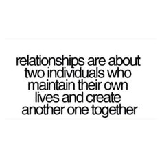 Together and Being TWo Individuals